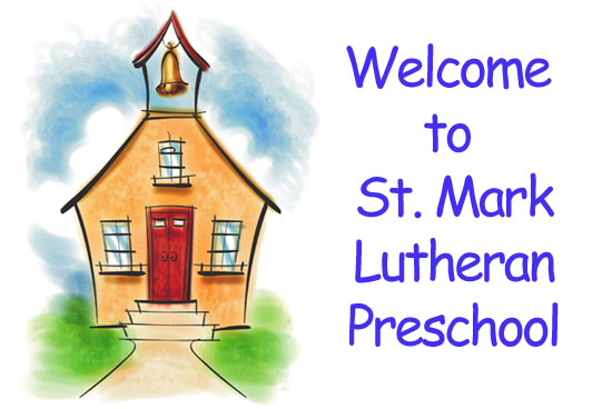 St. Mark Lutheran Preschool Banner Image of a School House